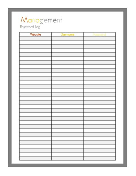 password journal template 373 best images about printable password sheets on