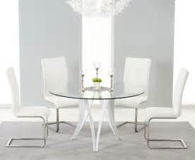 Glass And White Dining Table Coronet White Gloss Glass Dining Table