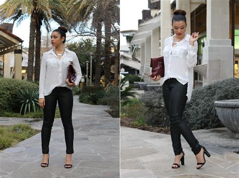 jeanelly concepcion zara trench coat marc by clutch signature sole pumps i jeanelly concepcion h m chiffon blouse forever 21 faux leather zara spiked sandals el