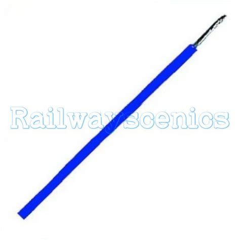 5 metre coil of blue 16 0 2 layout wire railwayscenics