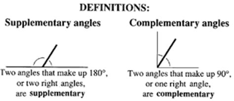 supplement vs complement math pil parallel and intersecting lines geometry