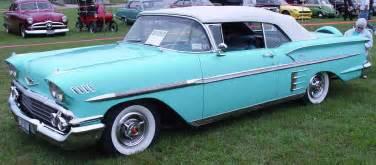 1958 chevrolet impala convertible aqua