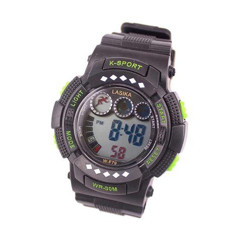 Jam Tangan Sport Unisex New Quicksilver Date Rubber Halus Hijau jual lasika w f 79 sport digital jam tangan unisex green harga kualitas terjamin