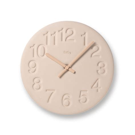 Earth Wall Clock in Pink design by Lemnos ? BURKE DECOR