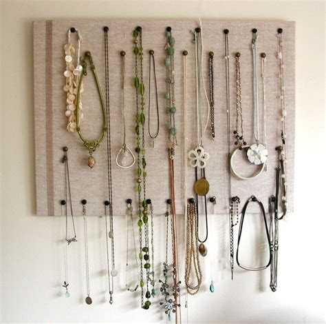 how to make a jewelry display board 25 creative necklace organization ideas the thinking closet