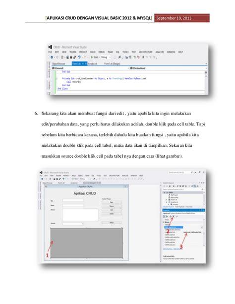 aplikasi crud dengan visual basic 2012