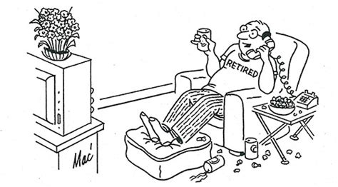 cartoons retirement the saturday evening post