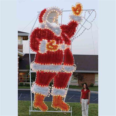 anmated waving snata garland waving santa c7 led light display 17 ft h