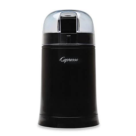 bed bath and beyond coffee grinder capresso 174 cool grind coffee spice grinder in black