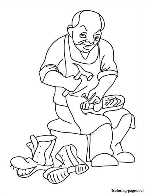 coloring book maker shoemaker coloring page coloring pages