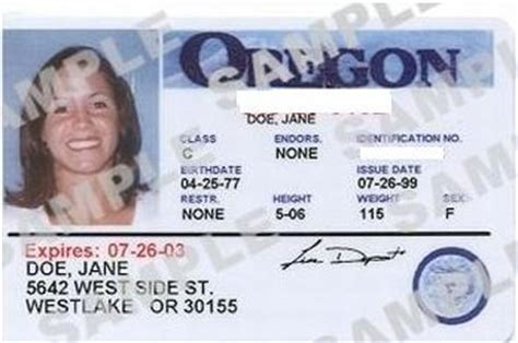 Oregon Id Card Template by Driver License Identification Card Renewal