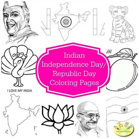 Indian Independence Day Coloring Pages by 50 Independence Day Republic Day Ideas Crafts Food