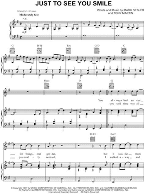 "Tim McGraw ""Just To See You Smile"" Sheet Music - Download"