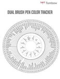 tombow color chart tombow dual brush pen orange shade abt 905 to 993 ebay