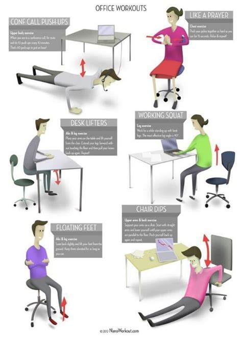 Office Desk Exercise How To Squeeze A Workout Into Your Work Day The Wellness Scientist
