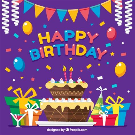 felicitaciones de cumpleanos con torta de colores fondo colorido con decoraci 243 n un pastel de cumplea 241 os