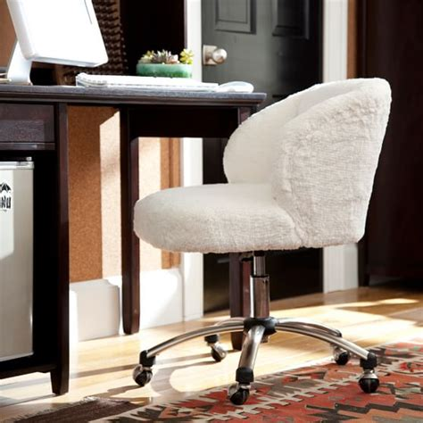 fur wingback desk chair ivory sherpa faux fur wingback desk chair pbteen