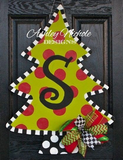 christmas tree door hanger ashley nichole designs