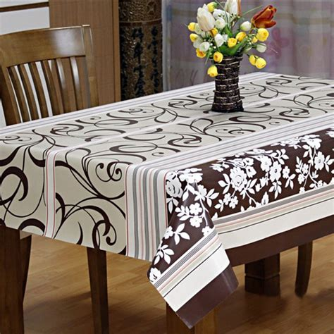 Plastic Dining Table Cover Pvc Tablecloth Toalhas De Mesa Blue Flowers Printed Table Cloth Plastic Waterproof Dining