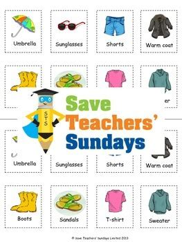 clothes for different seasons worksheet clothes for different weather and seasons lesson plan and