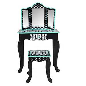 Vanity Chair Big Lots Kid S Damask 2 Vanity Set Big Lots