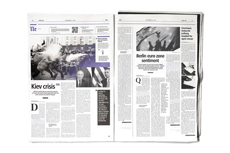 magazine layout structure daily news newspaper on behance