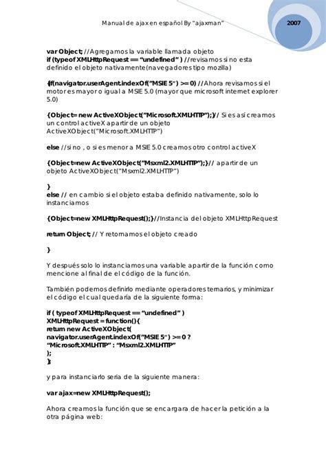 este sitio requiere msie 5 5 o netscape 6 optimizado para 800x600 manual de ajax en espanol