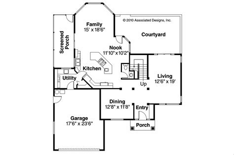 southwest home floor plans southwest house plans bellaire 11 050 associated designs