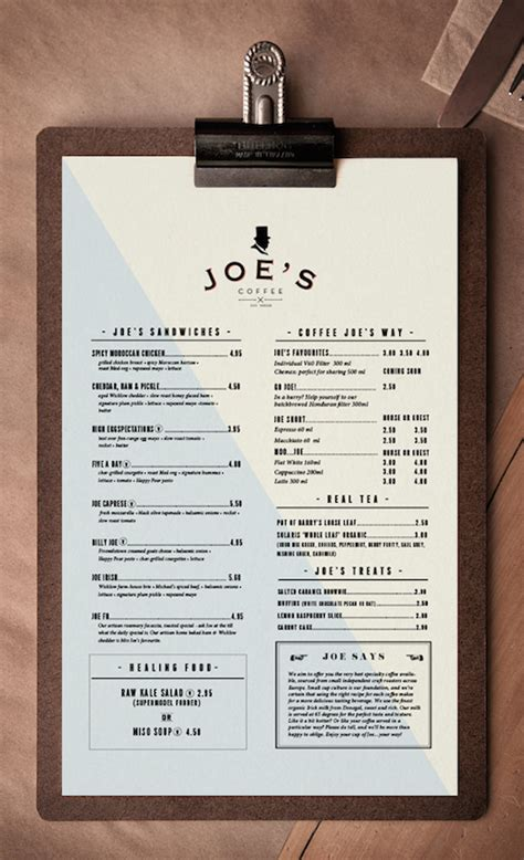 menu layout ideas for cafe guide to menu design 6 easy tips for creating a