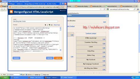cara membuat link home pada blog catatan haydar ali cara membuat scroll pada label blog archive atau widgets