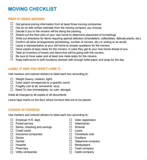 search checklist template moving checklist templates find word templates