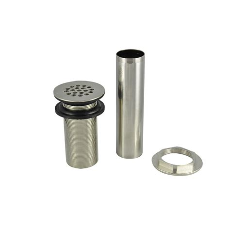 brushed nickel drain assembly 1 1 4 in lavatory grid drain assembly in brushed