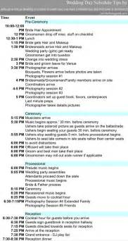 wedding day timeline template word wedding timeline template for excel pdf and word