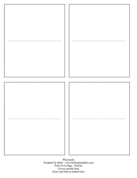 Blank Flat Card Template Word by Place Card Template Best 25 Ideas Table 1 Screnshoots