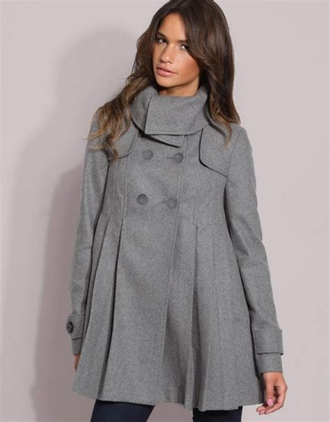 swing coat asos asos pleat swing coat