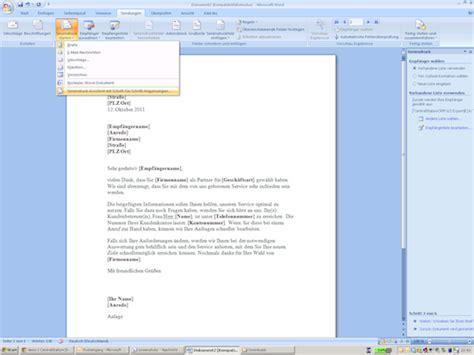 Brief In Word Erstellen Anwendungsbeispiel Mailings Und Serienbriefe Mit Centralstationcrm
