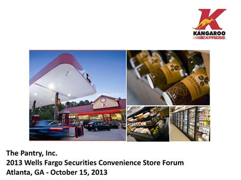 pantry inc form 8 k ex 99 1 fargo securities