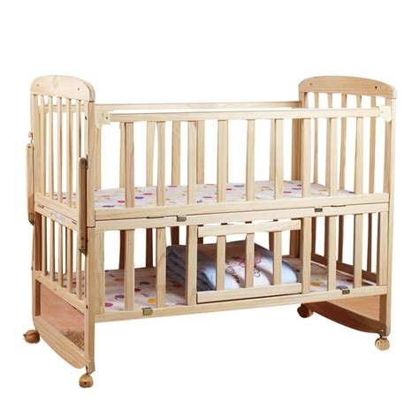 2016 Hot Sale Luxury Palace Mosquito Net Crib Real Wood Baby Cribs