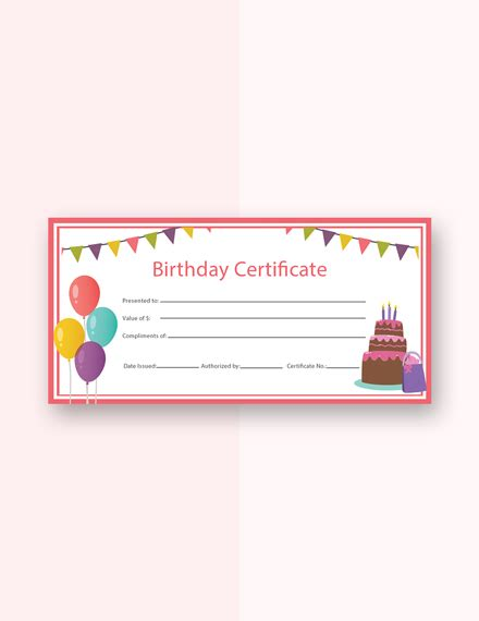 Free Birthday Gift Certificate Template Download 232 Certificates In Psd Illustrator Birthday Gift Card Template Printable