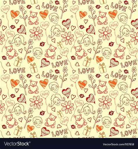 free doodle pattern vector doodle pattern background royalty free vector image