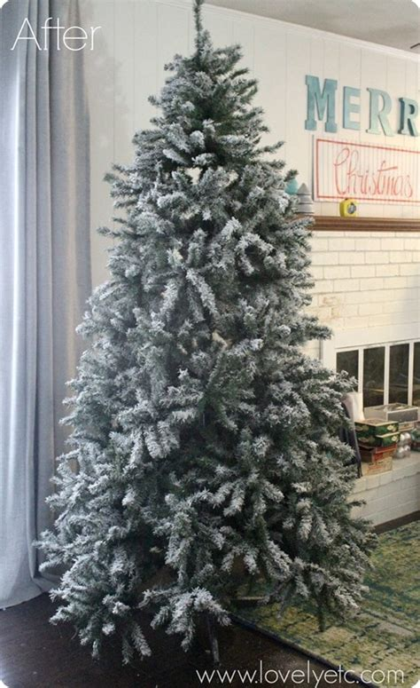 can you spray paint xmas tree white diy flocked tree lovely etc