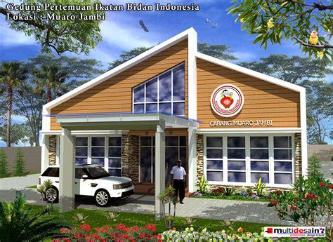 desain gerobak serba guna gedung serbaguna ikatan bidan indonesia multidesain arsitek