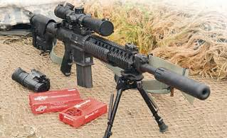 Ar 10 based 7 62mm sniper rifle originally developed for military use