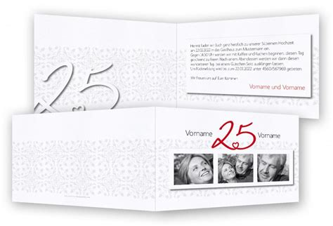Einladung Zur Silberhochzeit by Silberhochzeit Einladungen Feinekarten