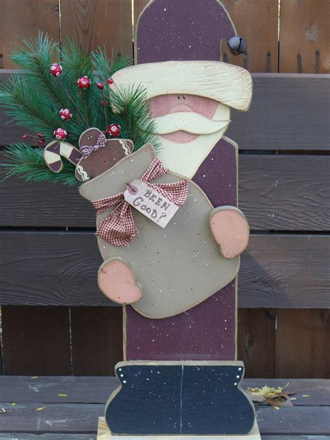 Handmade Primitive Crafts - primitive crafts santa