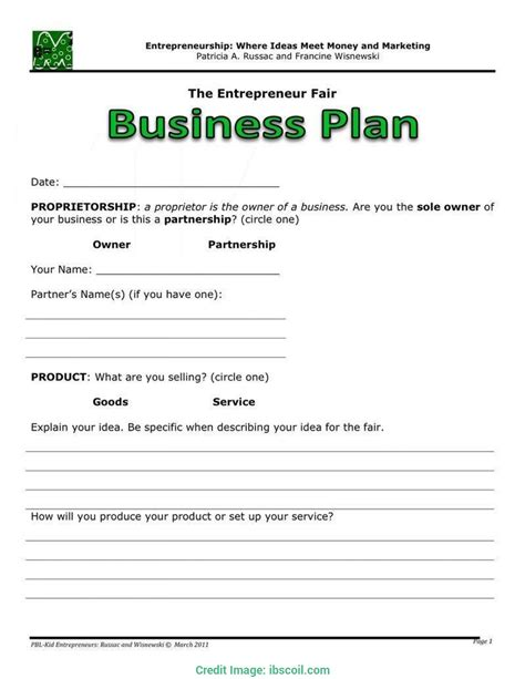 Page Templates Fill In The Blank Business Plan Template Free Exle Page Templates Business Plan Template Free