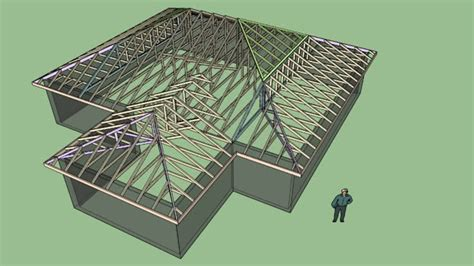 complex truss hip roof 3d warehouse