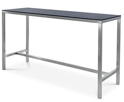 high bench table stainless highbar compact top base024 bench bar