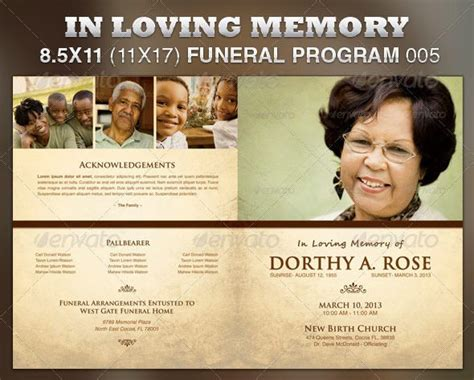 In Loving Memory Funeral Program 171 6 Dollar Flyers Com 6 Dollar Flyers Com Things To Draw Funeral Flyer Template