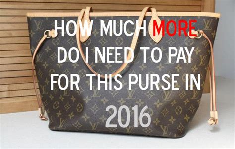 New Louis Vuitton Line Price Raise by Louis Vuitton Price Increase In 2016 Cloversac